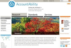 AccountAbility - @AAInsights global org providing solutions for #CSR and sustainable development