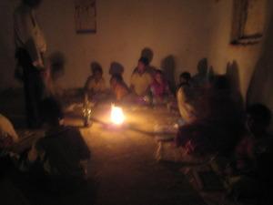 Learning to read by kerosene lantern