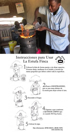 Estufa Finca cook stove from SeaChar - no smoke less wood