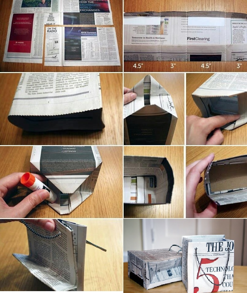 How to make gifts bags from Newspapers - via @howaboutorange
