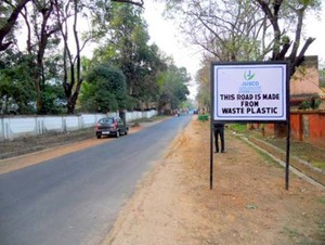 Road made of waste plastic in Jamshedpur
