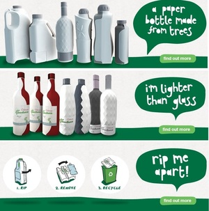 GreenBottle @greenbottleuk - Bottles going Green - It's Paper with a touch of Plastic