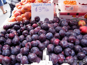 organic plums always welcome here!