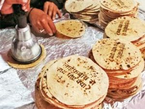 "This is consumable advertising.  Printing hand washing reminder on a ""roti"" - an Indian bread"