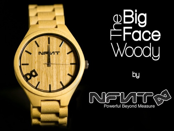 The Big Face Woody - all natural bamboo watch on Kickstarter