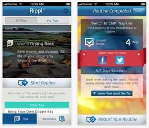 Rippl - Free mobile app helping you live a greener lifestyle