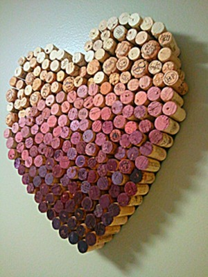 Heart made of corks