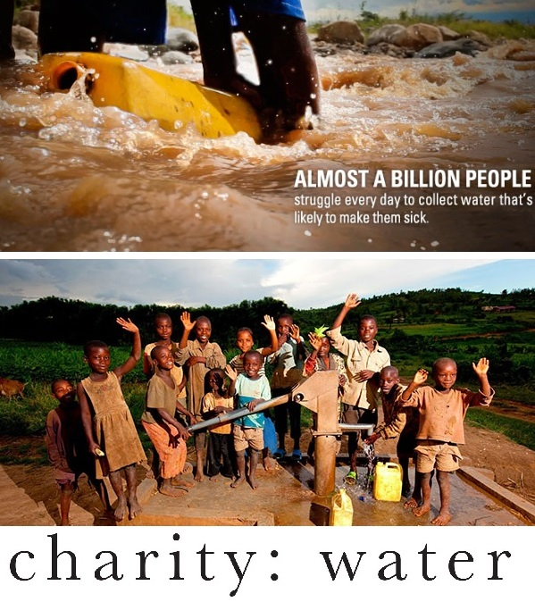 Charity Water @charitywater - bringing clean water to people in developing countries