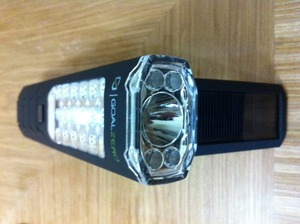 Solar and Crank LED Flashlight