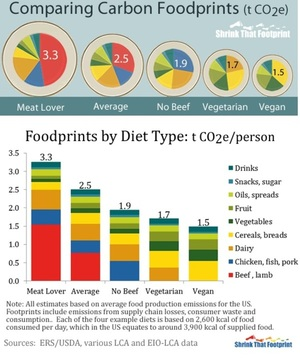 Why vegans have small carbon foodprints via @shrinkfoot