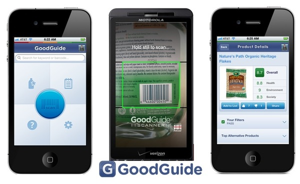GoodGuide Mobile App - easy to find safe, healthy, green, and ethical products