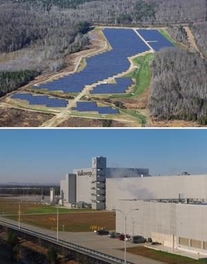 Volkswagen Solar Park Near Chattanooga, TN