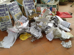 Illegal posters pulled down ,now ready to go for recycle