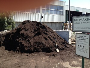 Compost at City of Sunnyvale SMART Station
